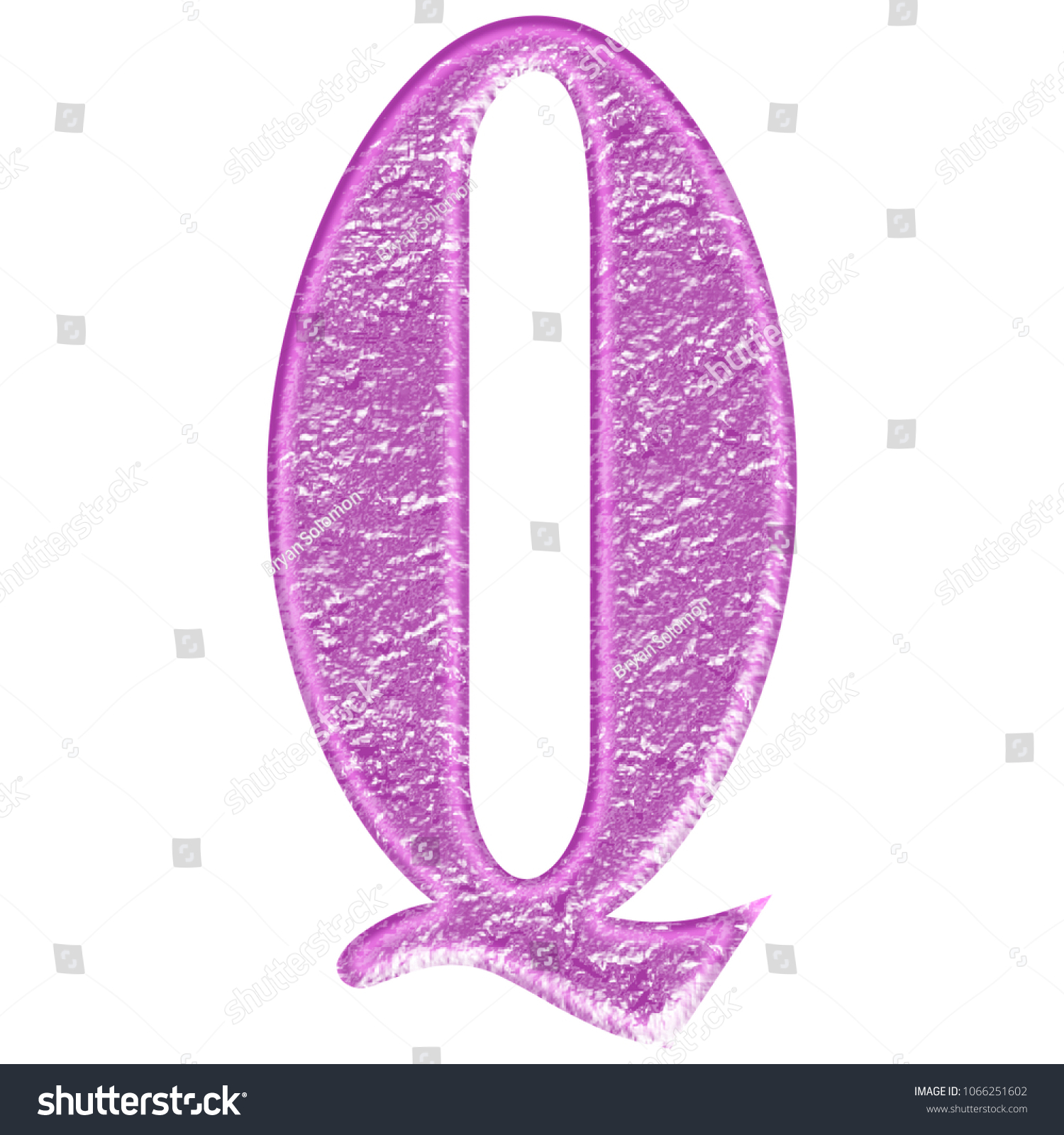 Worn Pink Metal Style Letter Q Stock Illustration 1066251602 ...