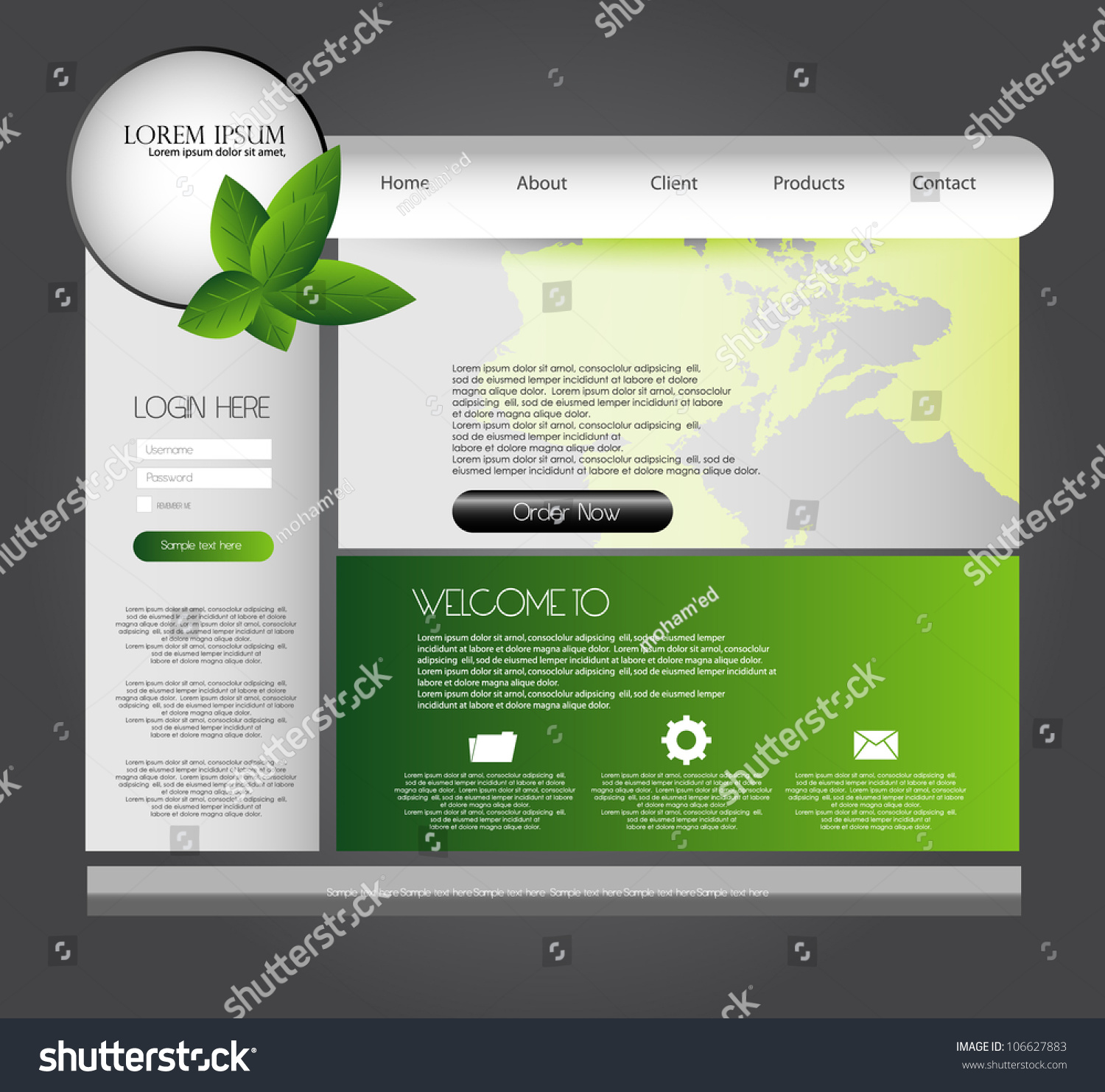 Modern Website Design Templates: Modern Web Design Template Stock Vector 106627883