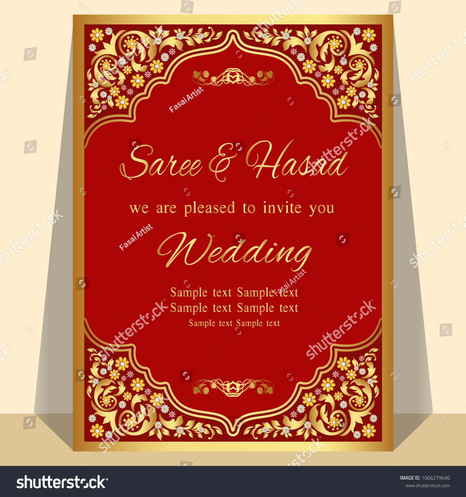 Indian Wedding Invitation Card Abstract Background Perfect Stock