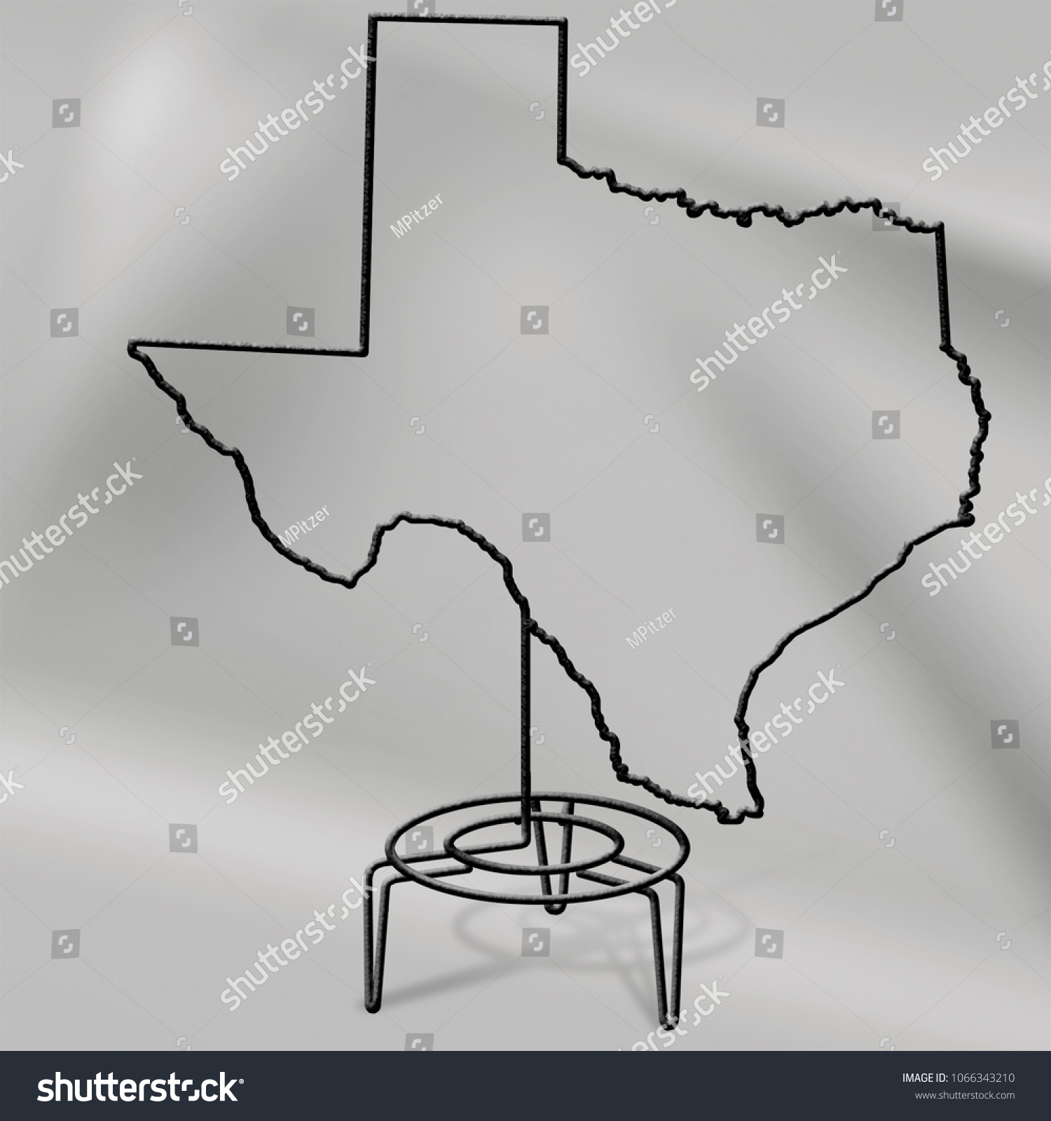 Wire Sculpture Texas Stock Illustration 1066343210 - Shutterstock