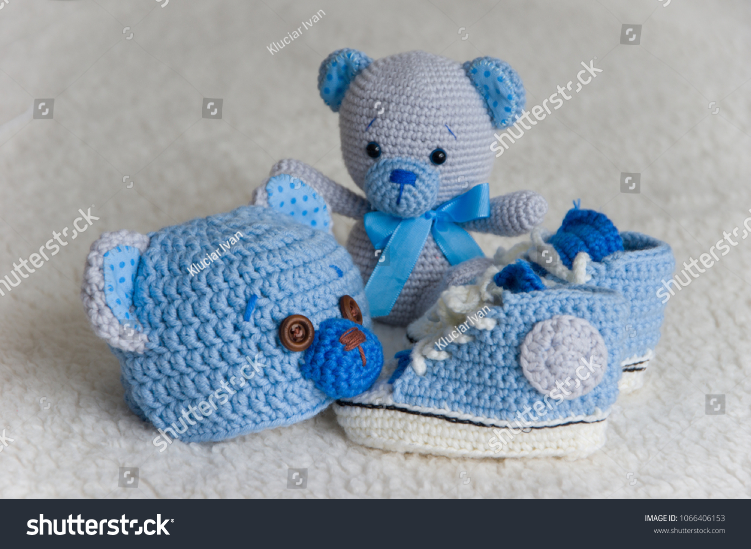 a0f5536678e Cute Newborn Baby Boy Fashion Set Stock Photo (Edit Now) 1066406153 ...