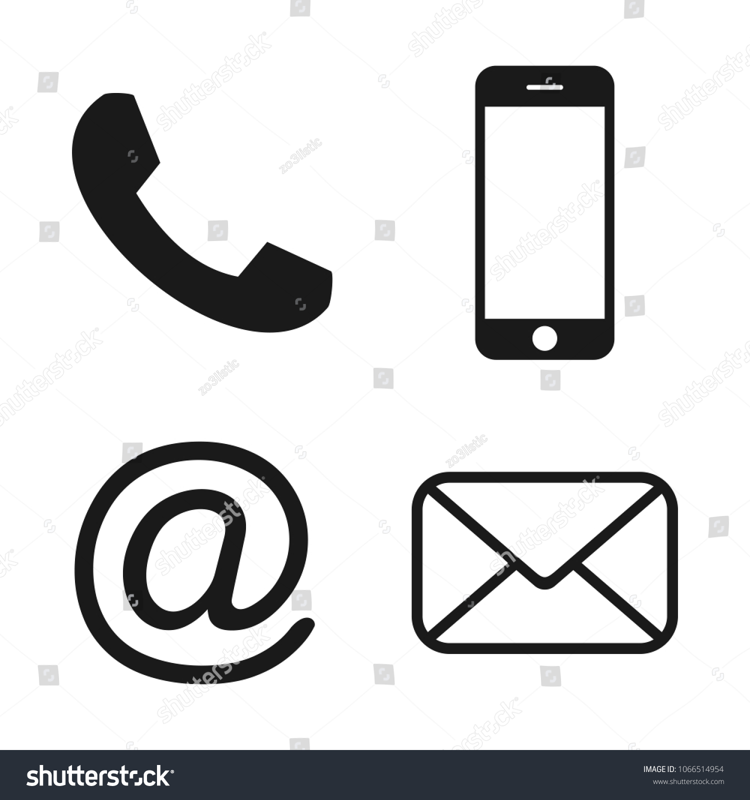 Contact Icons Communication Icon Contact Buttons Stock Vector Royalty Free 1066514954 Each icon is available in vector svg and png format. https www shutterstock com image vector contact icons communication icon buttons email 1066514954