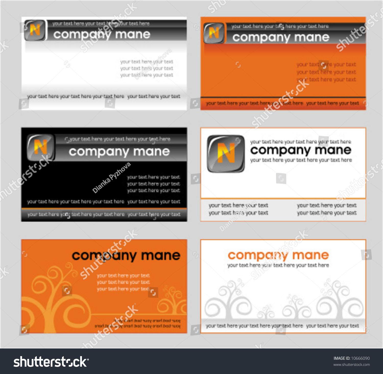 vector set business card designs 3 stock vector