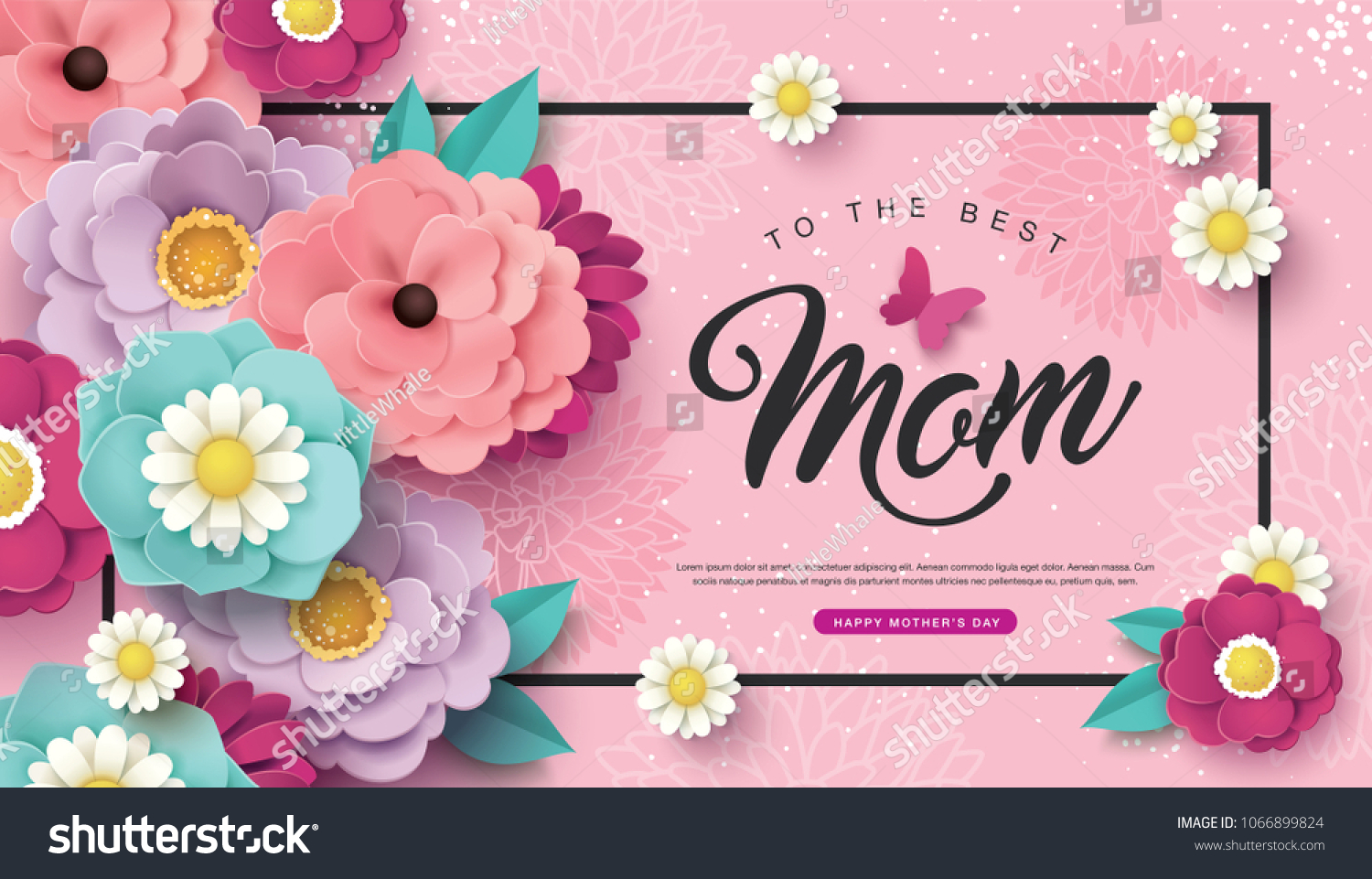 Miraculous Happy Mothers Day Greeting Card Design Stock Vector Royalty Free Funny Birthday Cards Online Fluifree Goldxyz