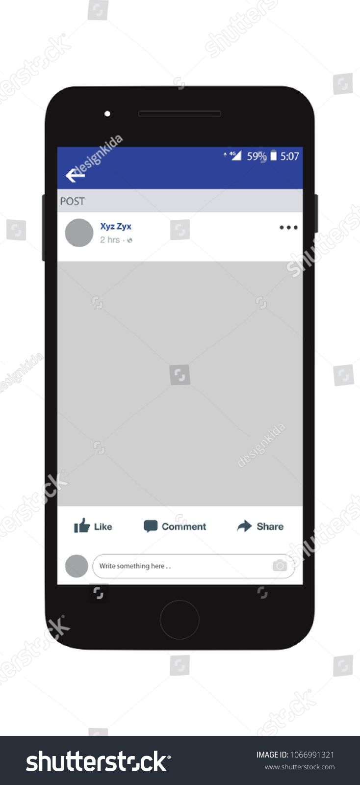 Social Network Profile On Smart Phone Stock Vector Royalty Free