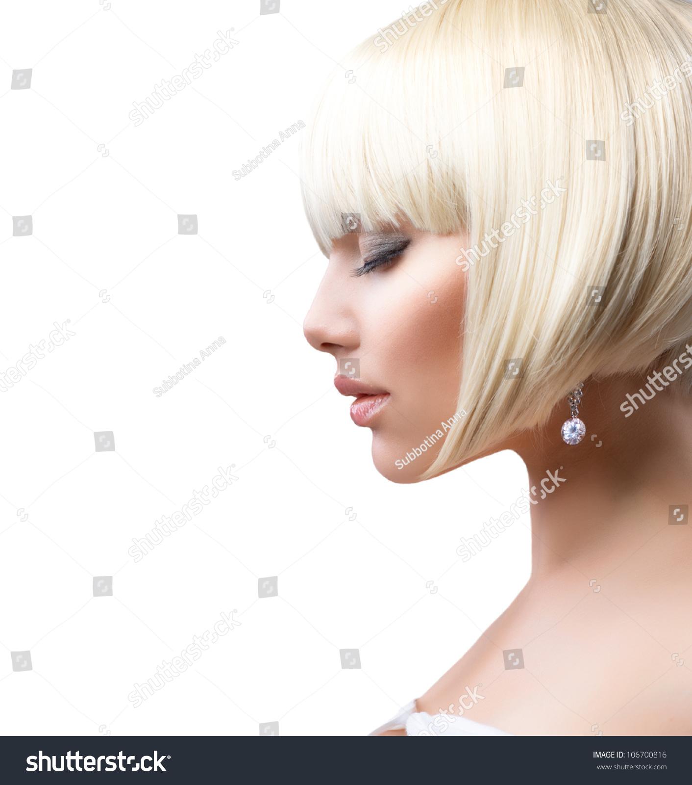 Blond Hair Haircut Beautiful Girl Healthy Short Stock Photo Edit