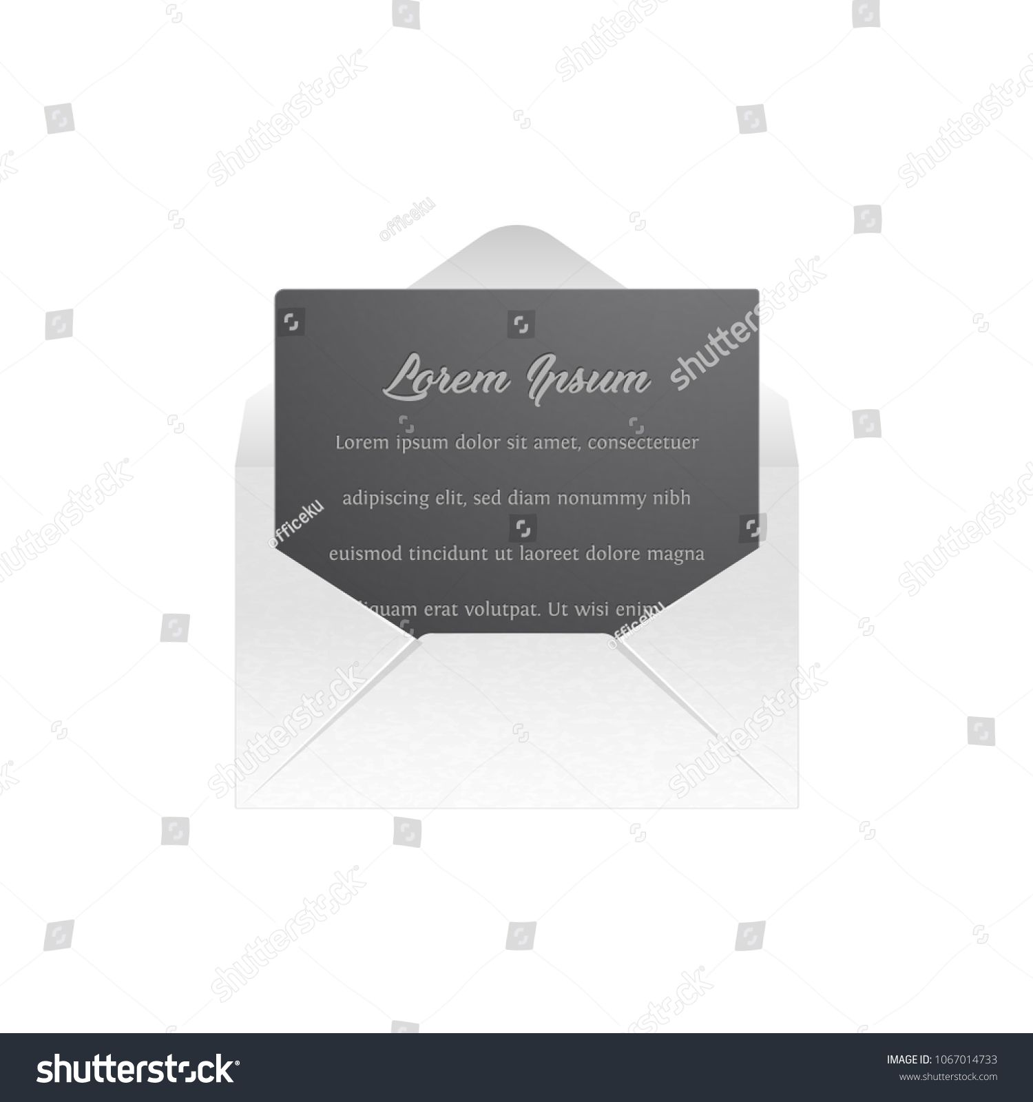 Blank Template White Paper Envelope Empty Stock Photo (Photo, Vector ...