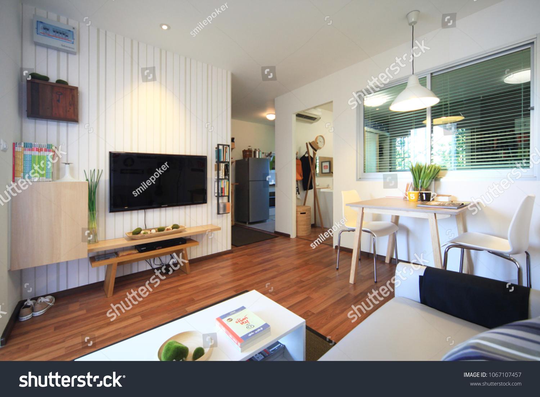 Bangkok thailand 10 apr 12 modern residence design with furniture and interior design
