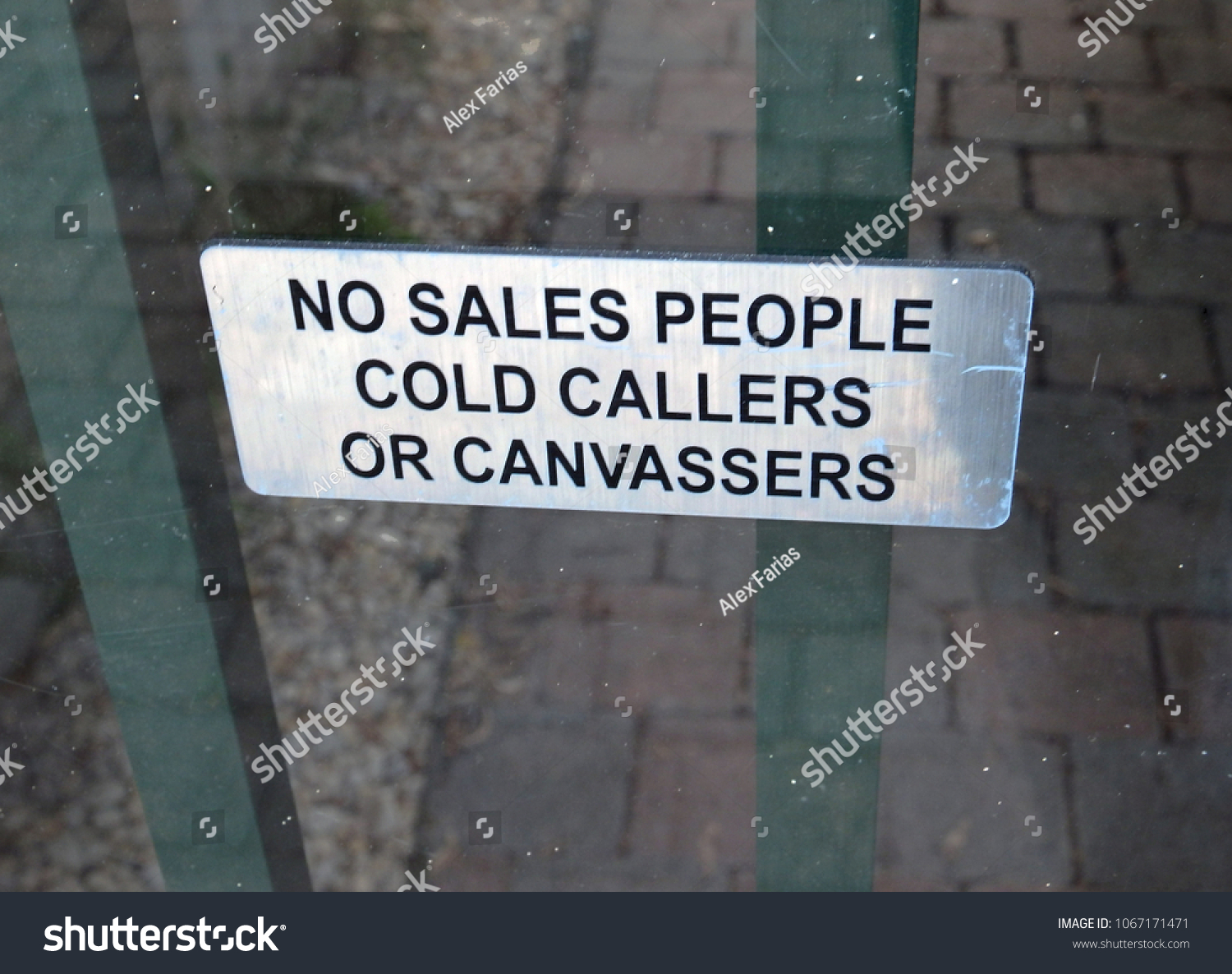 No Sales People Cold Callers Canvasser Stock Photo Edit Now