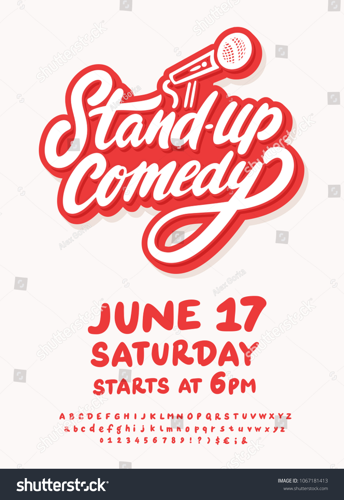 Stand Comedy Poster Template Stock Vector Royalty Free 1067181413