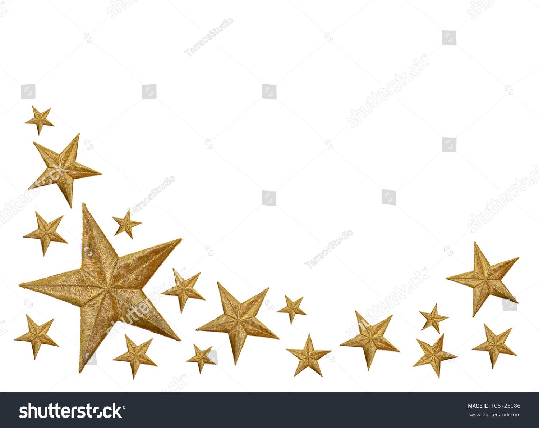 Gold Stars Isolated On White Background Stock Photo ... - photo #16