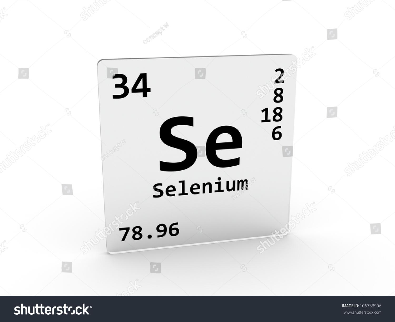 Stock Photo Selenium Symbol Se Element Of The Periodic Table on Silicon Periodic Table