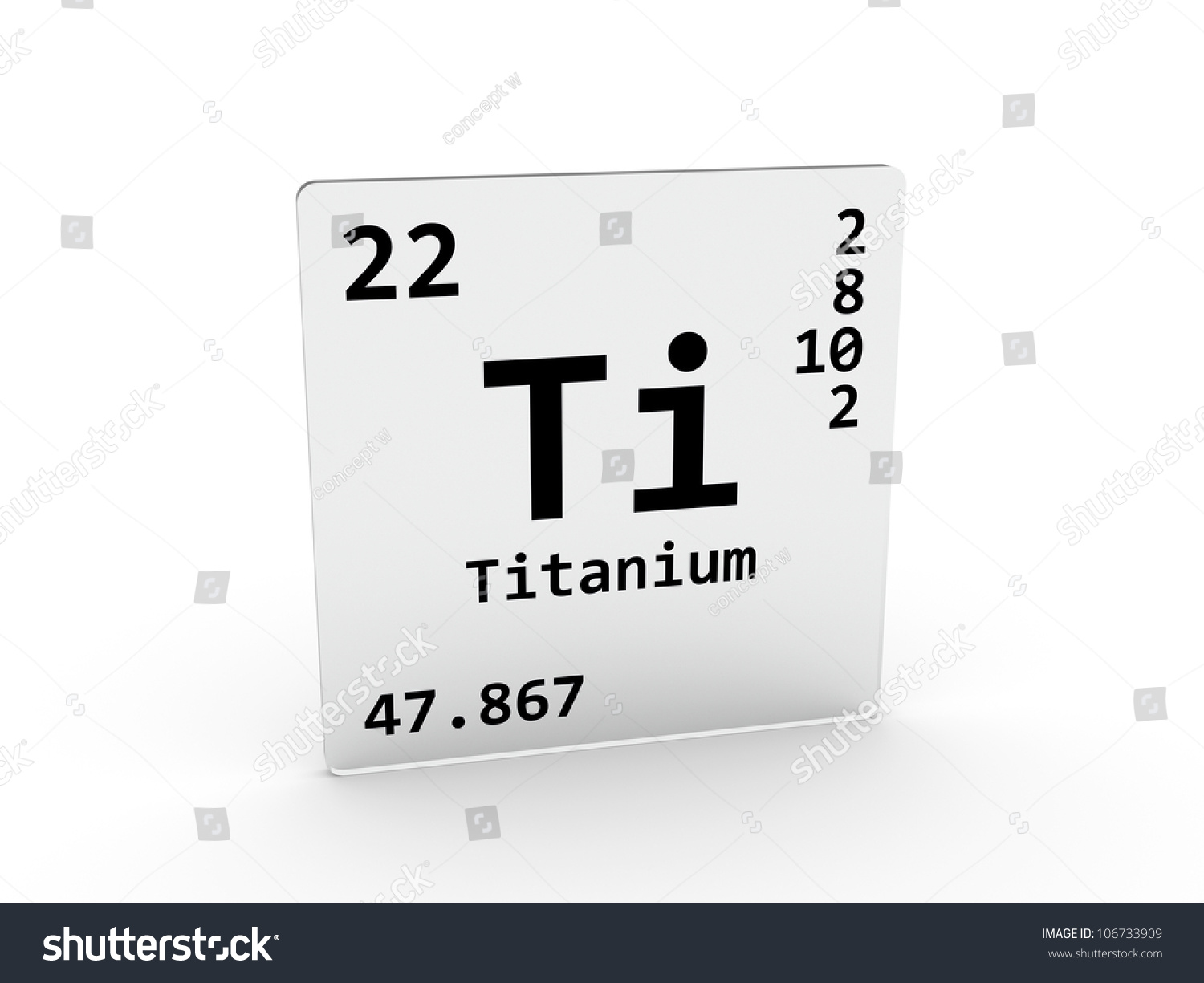 Titanium symbol ti element periodic table stock - Tungsten symbol periodic table ...