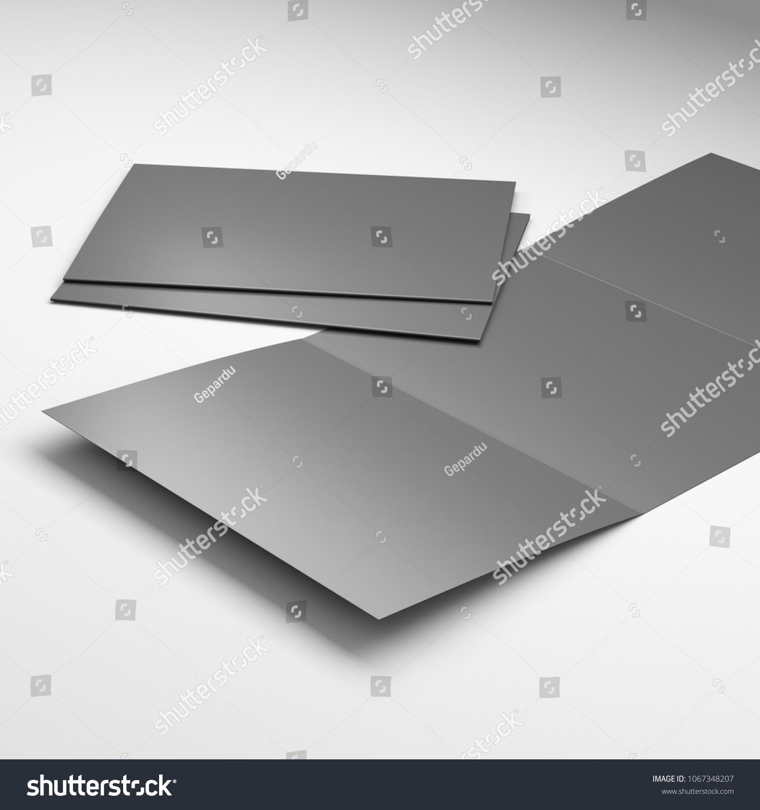 Blank Tri Fold A 4 A 5 Size Stock Illustration 1067348207 Shutterstock