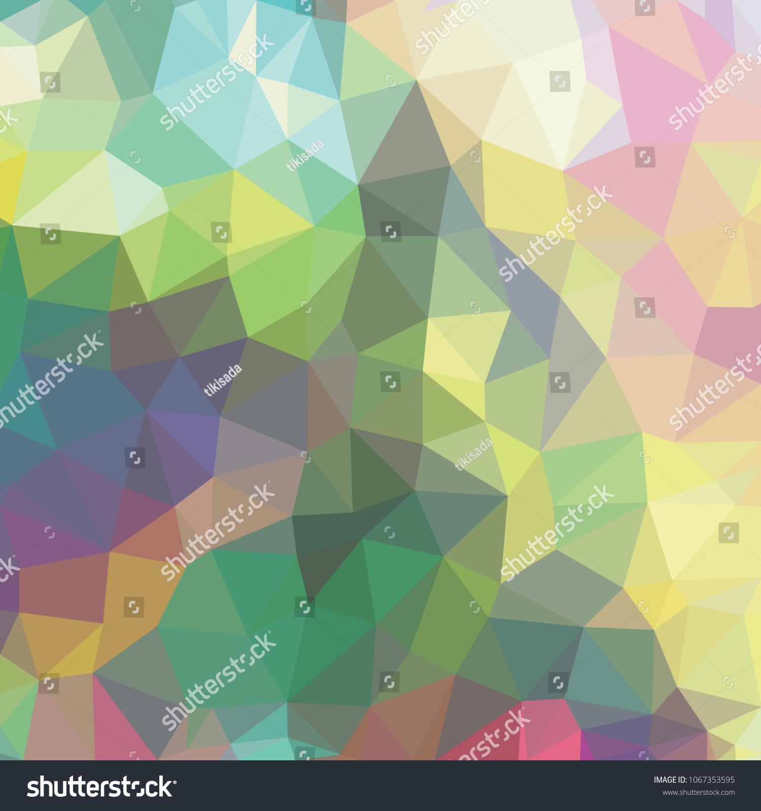 fe6157110f06ed Low polygon pastel background, rainbow polygonal texture, vivid colorful  backdrop, geometric technology banner