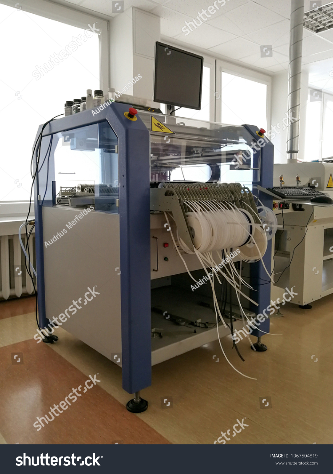 Printed Circuit Board Components Assembling Machinery Stock Photo Making Machine Buy For Industrial Manufacturing