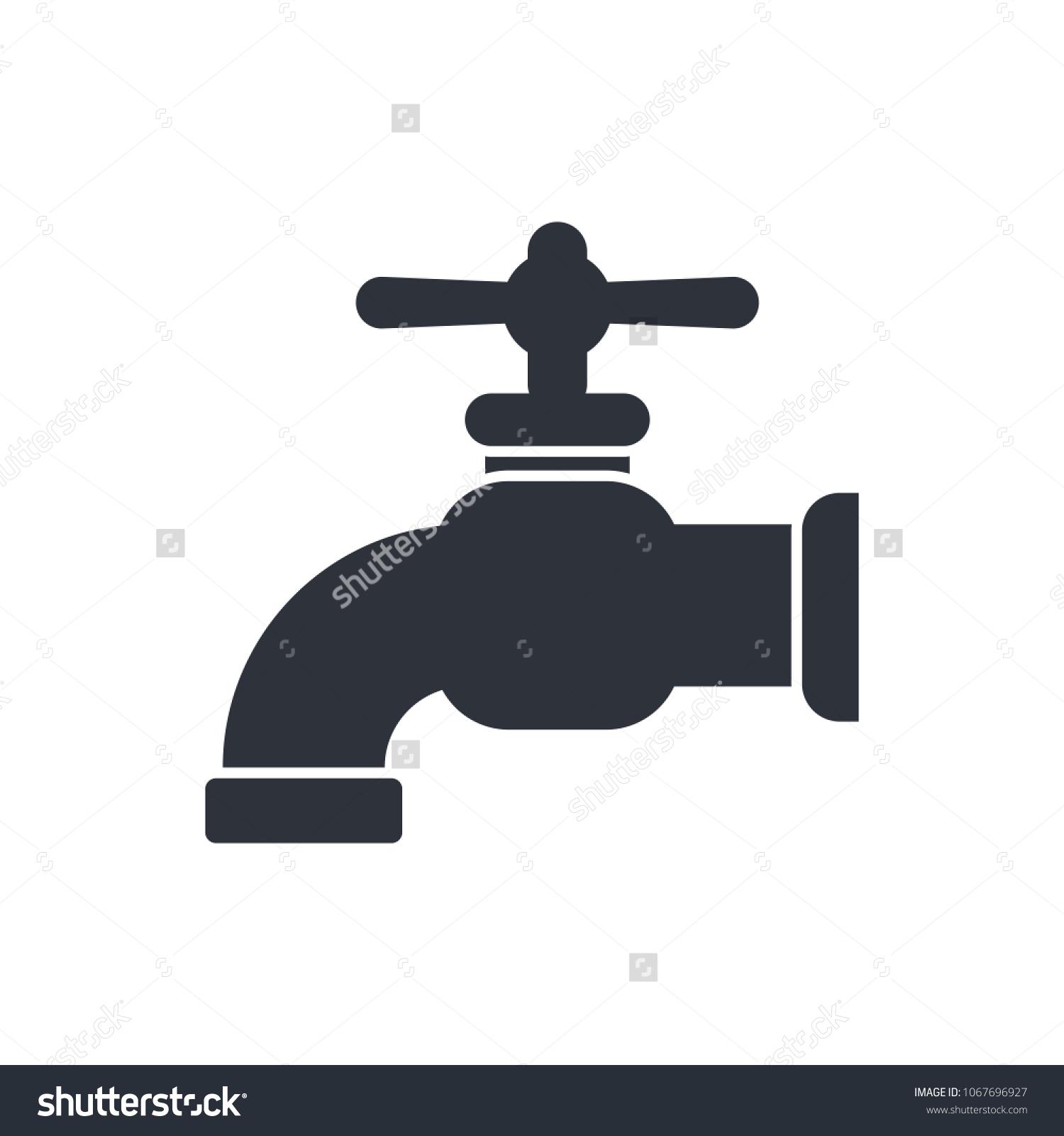 Faucet Icon Vector Premium Quality Spigot Stock Vector 1067696927 ...
