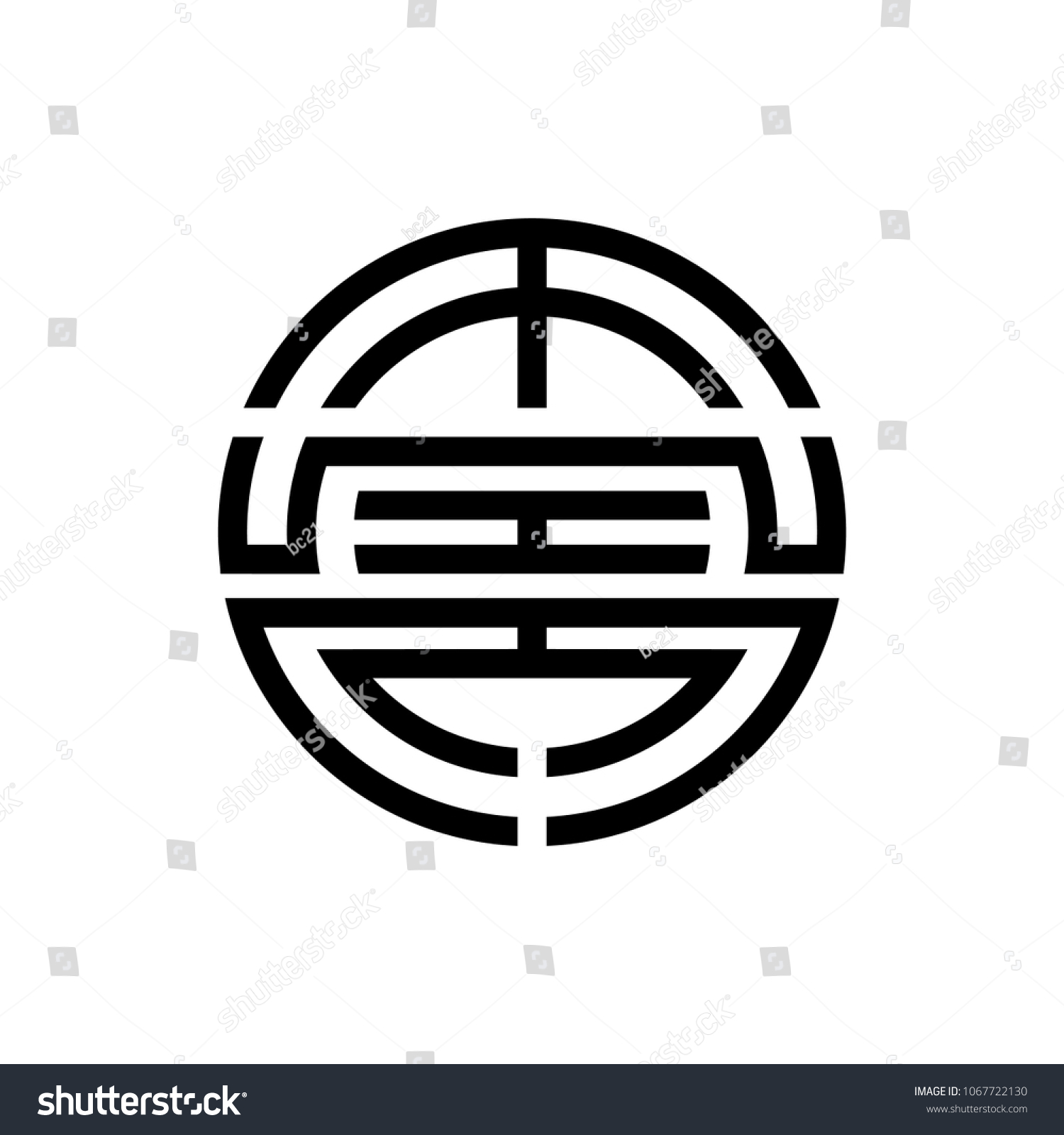 Feng Shui Symbol Prosperity Fortune Wealth Stock Vector Royalty