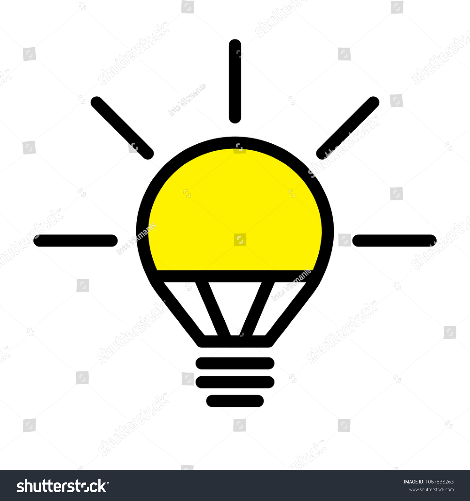 Electric Led Light Bulb Lamp Symbol Stock Vector Royalty Free