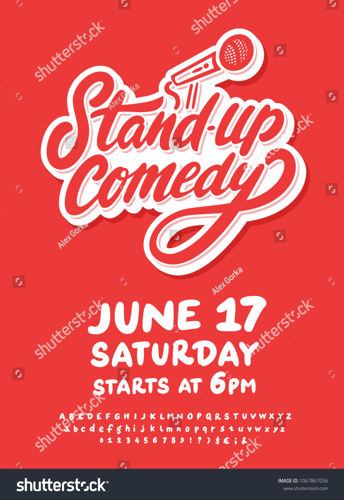 Stand Comedy Poster Template Stock Vector Royalty Free 1067867036