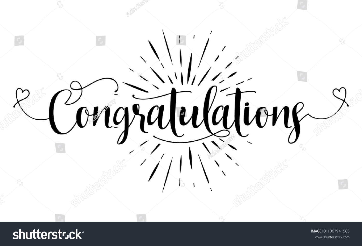 Congratulations Hand Lettering Typography Text Vector Stock Vector