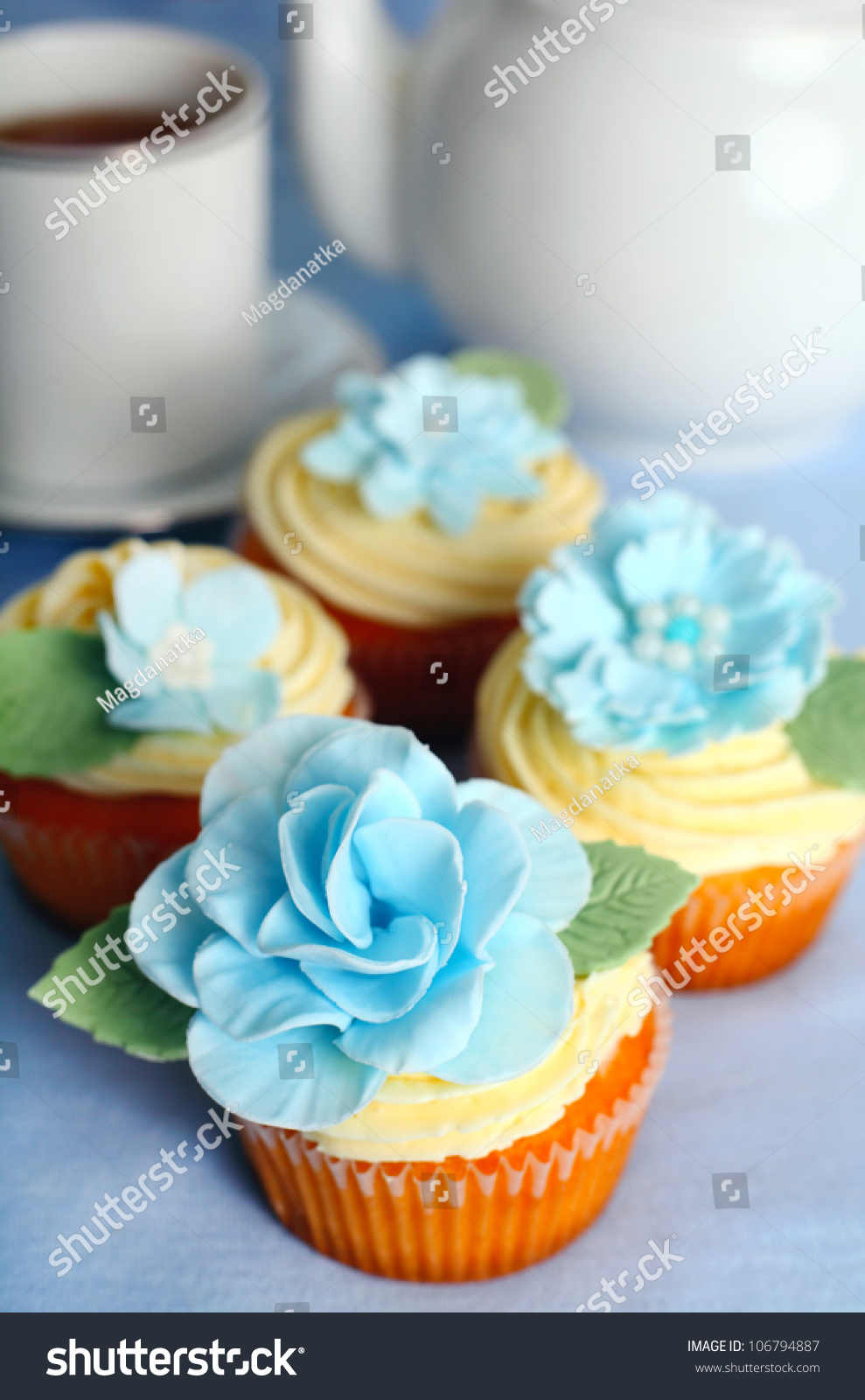 Beautifully decorated cupcakes Preview. Save to a lightbox