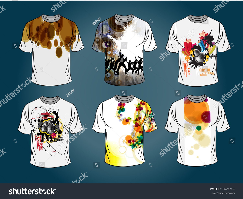 Shirt design illustrator template - Vector T Shirt Design Template