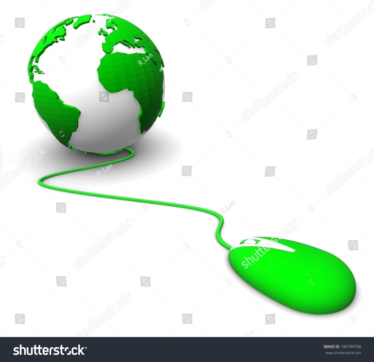 3d Color Planet Earth Bears On Stock Illustration ...