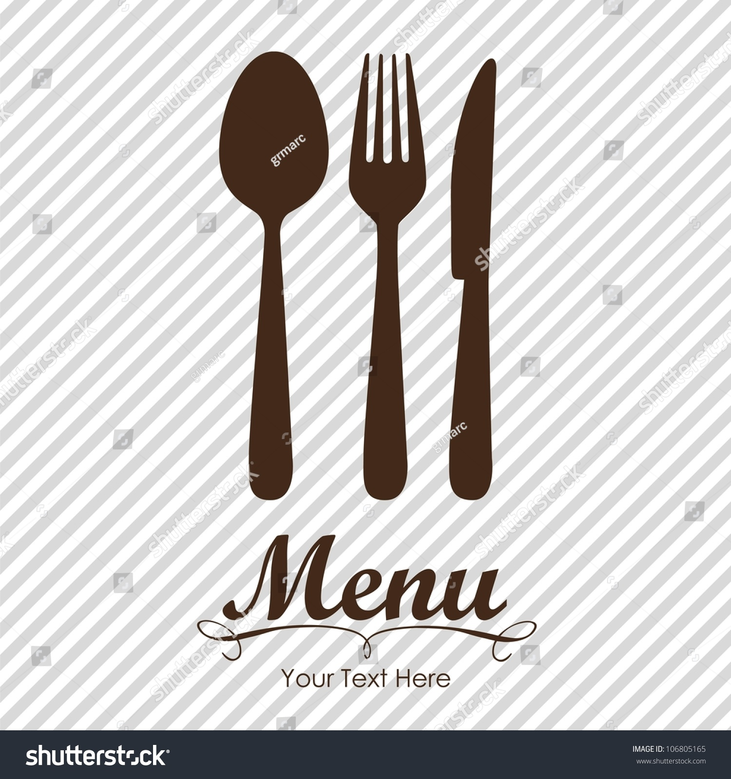Image Gallery knife and fork menu