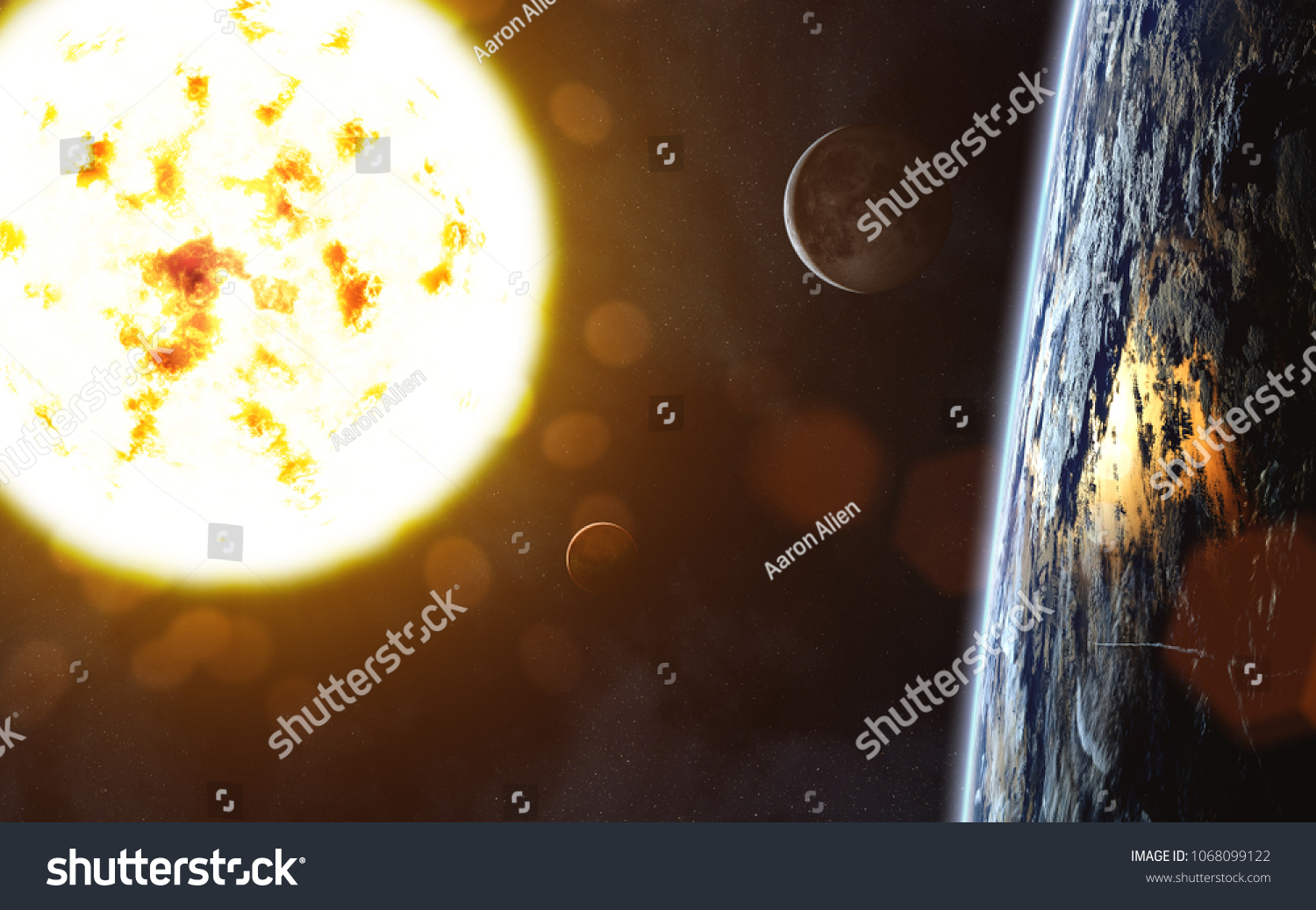 Red Giant Star Sun Earth Landscape Stock Photo Edit Now 1068099122