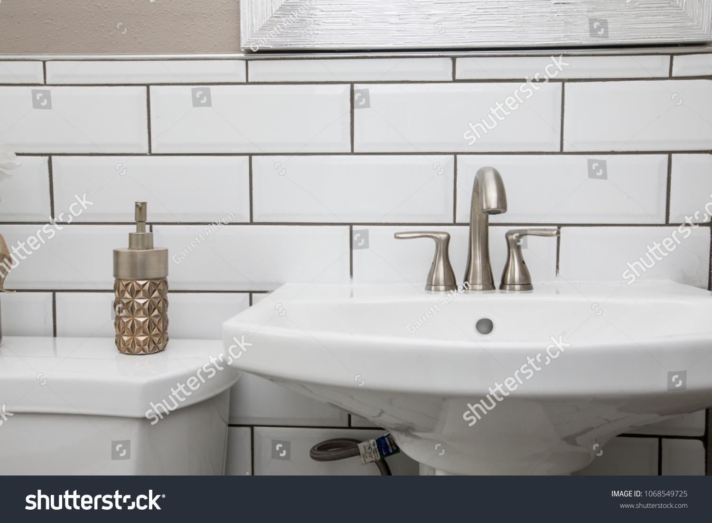 - Bathroom Sink Shot Close Modern Design Stock Photo (Edit Now