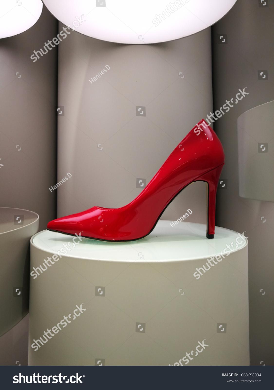 Sensual Glossy High Heel On Retro Stock Photo Edit Now 1068658034 Heels Display