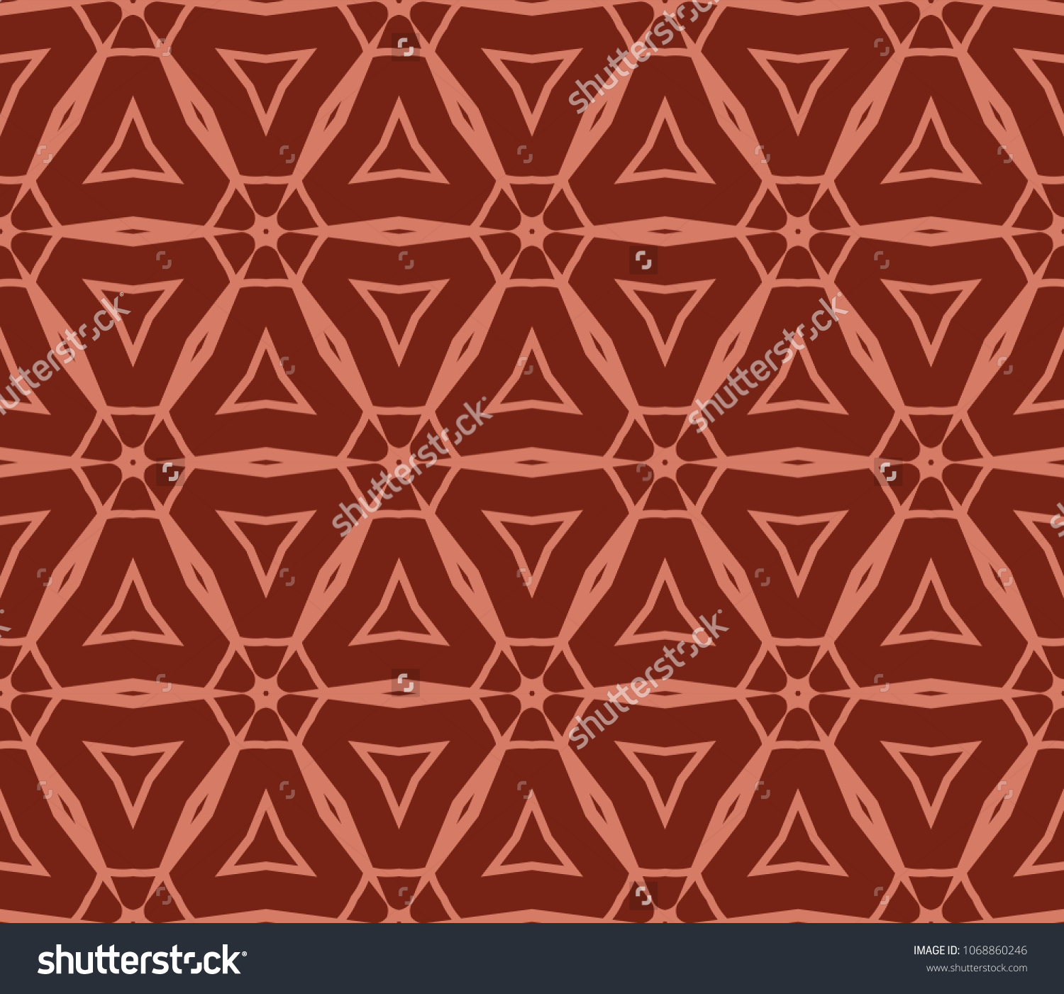 Seamless Vintage , Retro Style Geometric Pattern Vector Illustration For