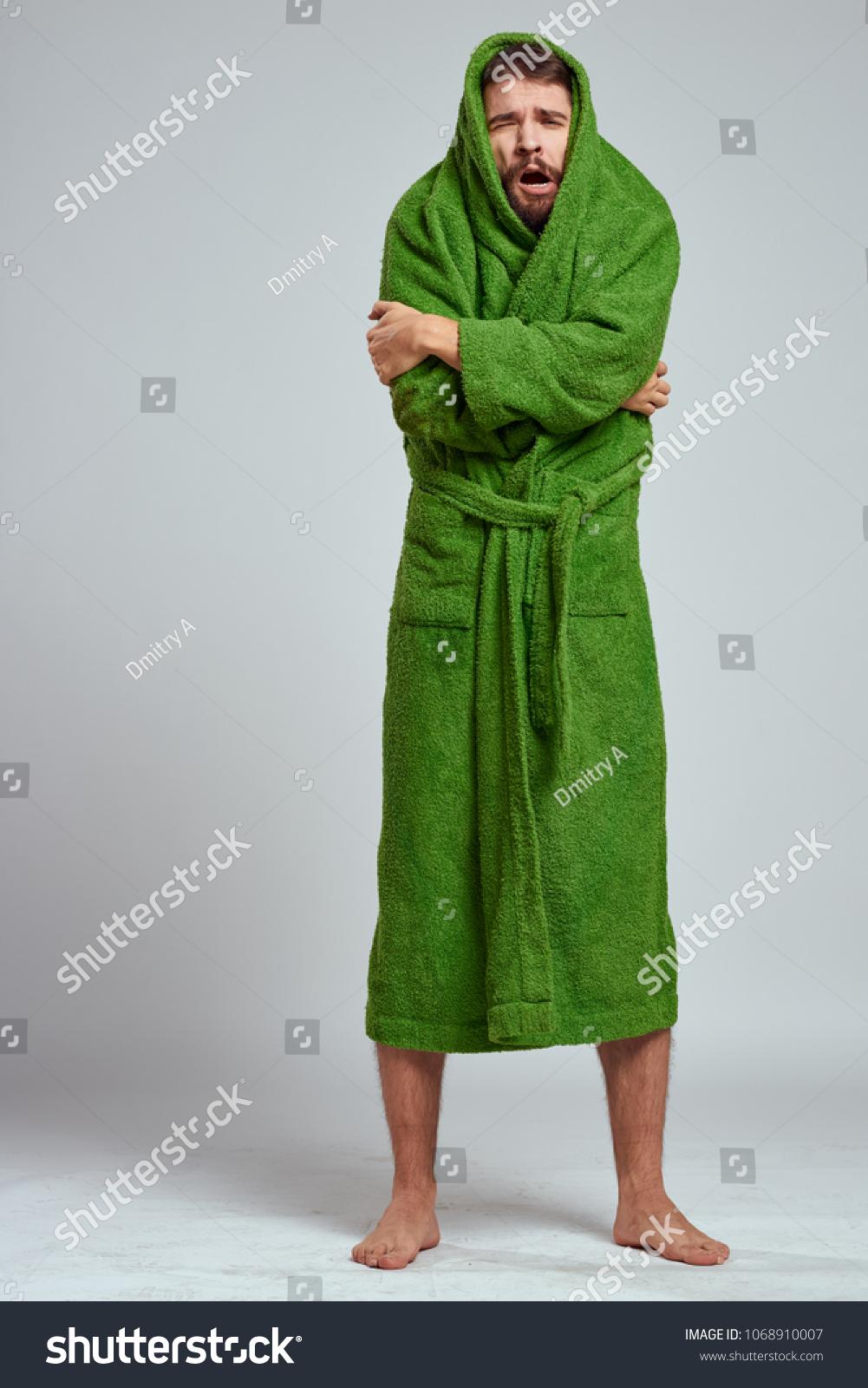 64b84aa378 Man green robe froze stock photo edit now shutterstock jpg 1001x1600 Green monk  robe
