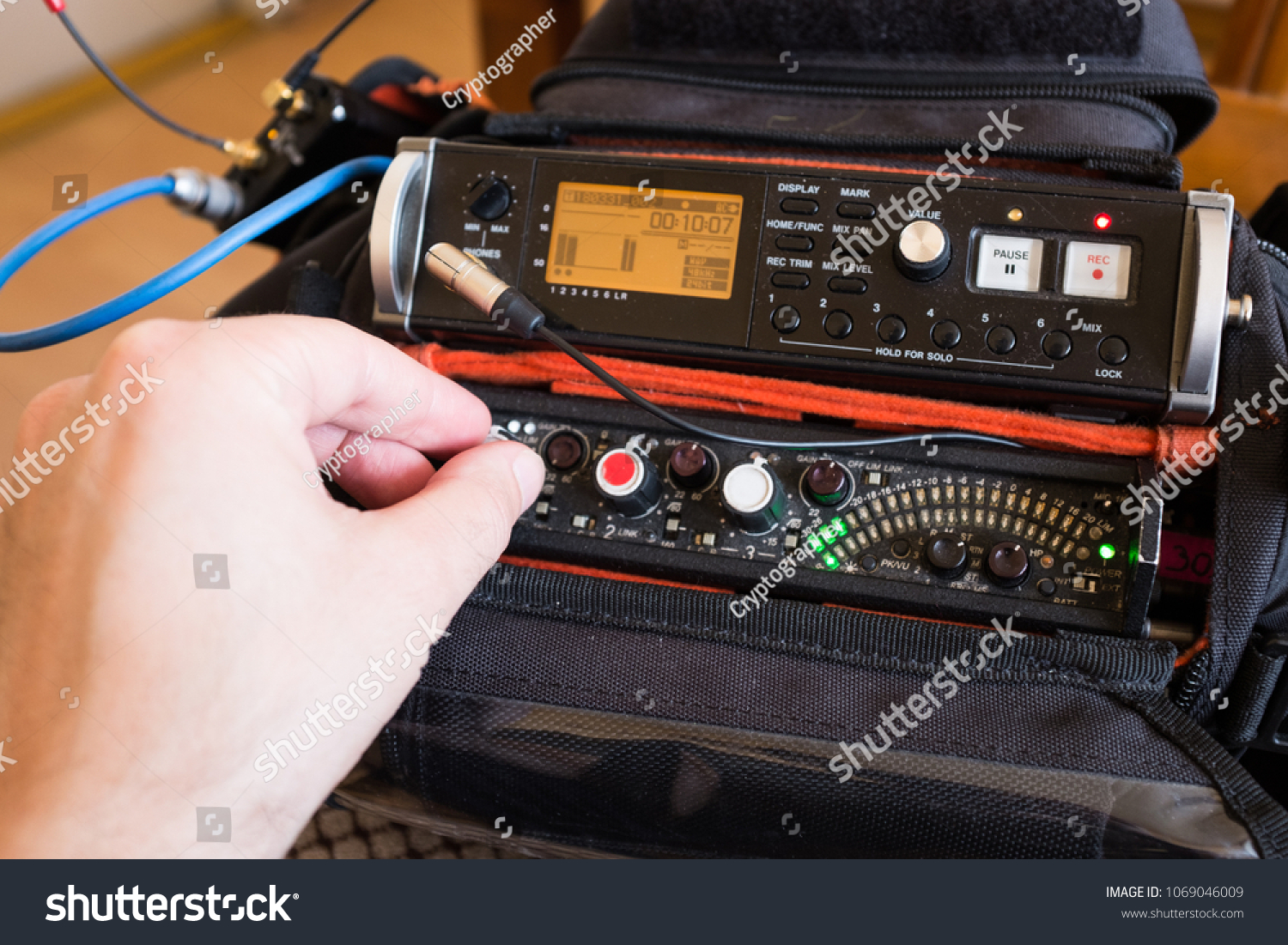 Audio Engineer Mixing Live Sound On Stock Photo Edit Now