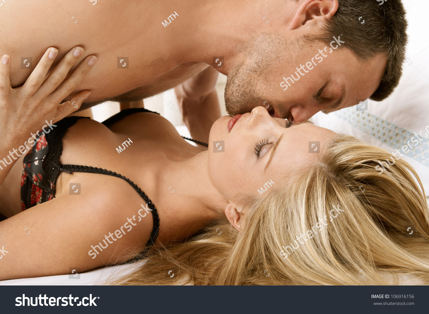 Young Couple Having Sex Bed Kissing Stock Photo 106916156 -9866