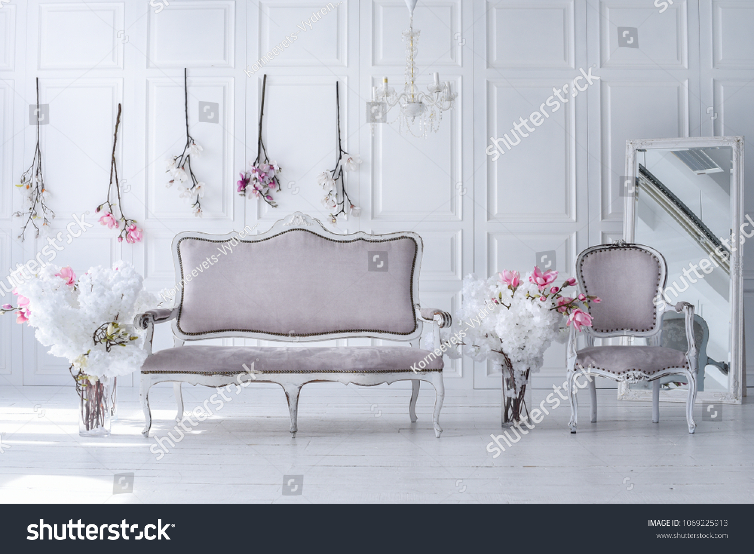 Interior Living Room Victorian Style Vintage Stock Photo Edit Now 1069225913