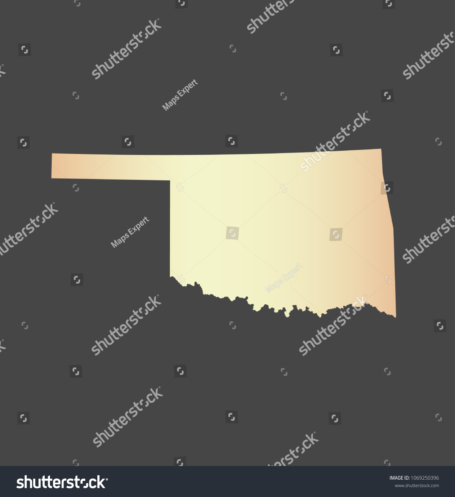 Oklahoma State USA Map Vector Outline Stock Vector (Royalty Free ...