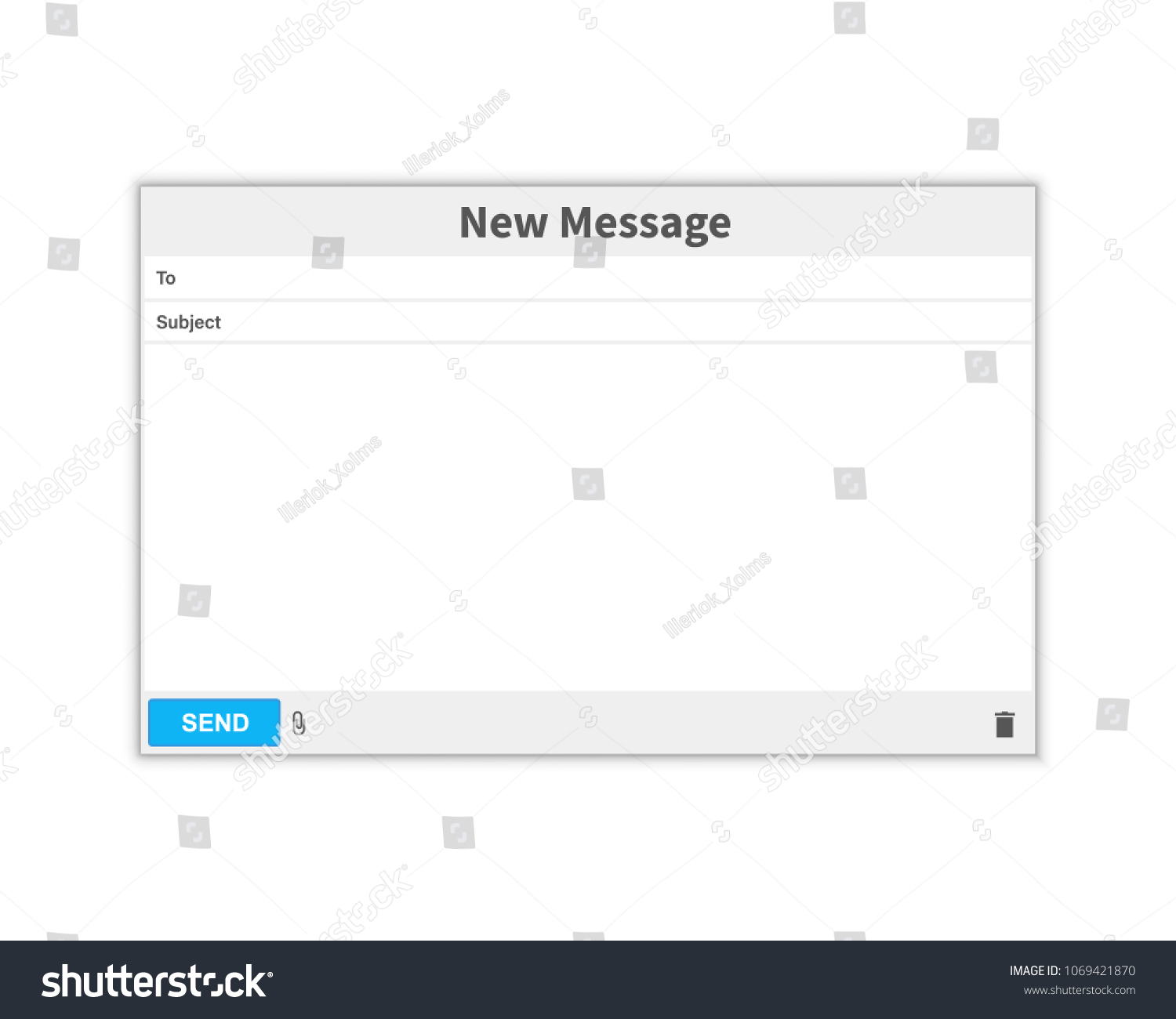Email Message Blank Window Email Template Stock Vector (Royalty Free ...