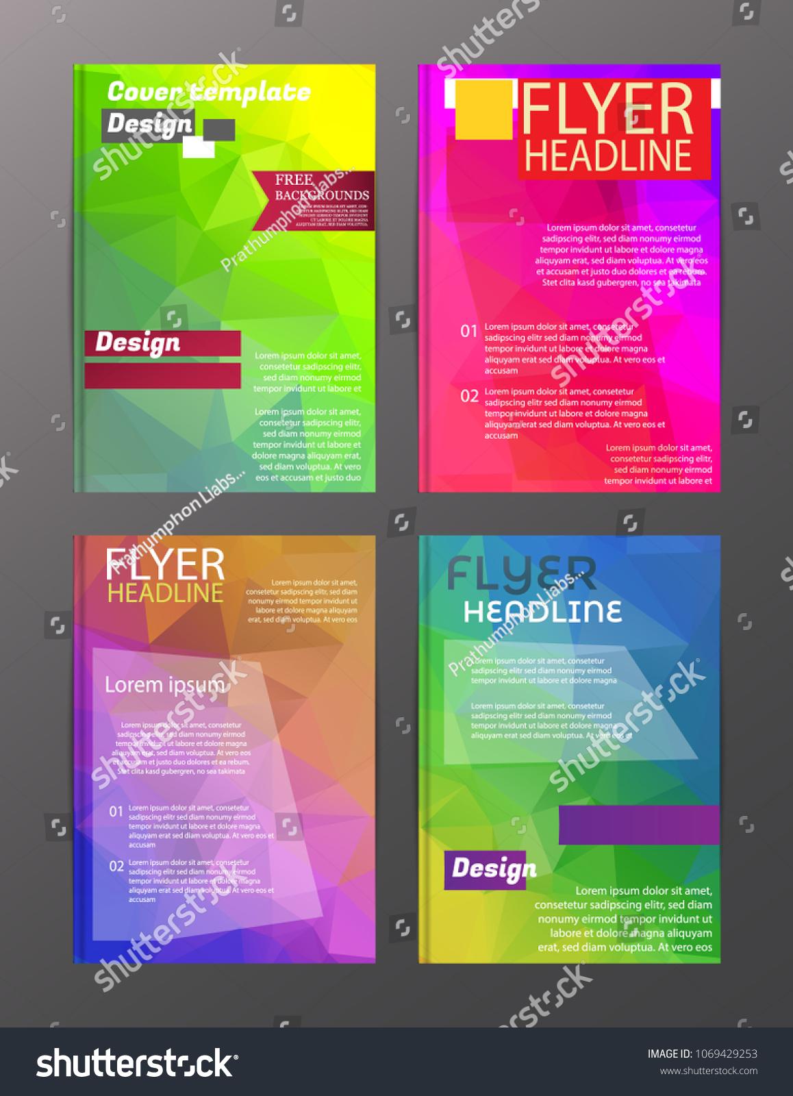 vector brochure flyer design layout templates stock vector royalty