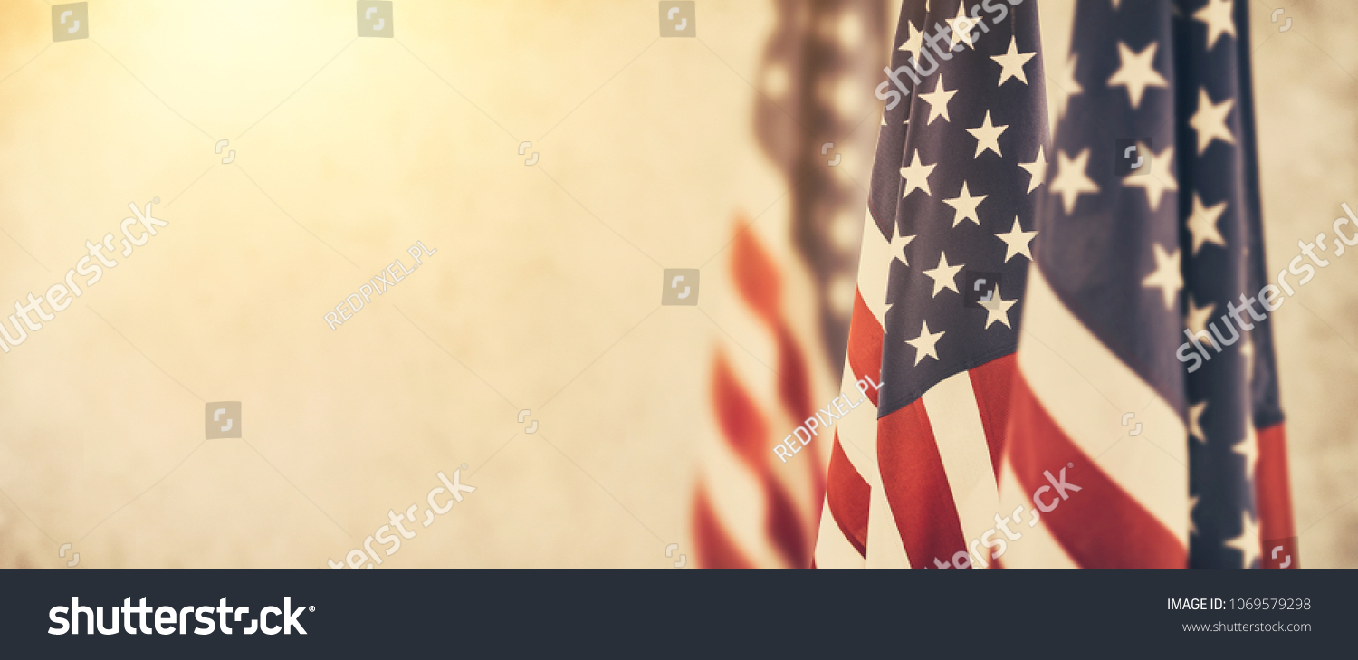 American flag for Memorial Day, 4th of July or Labour Day #1069579298