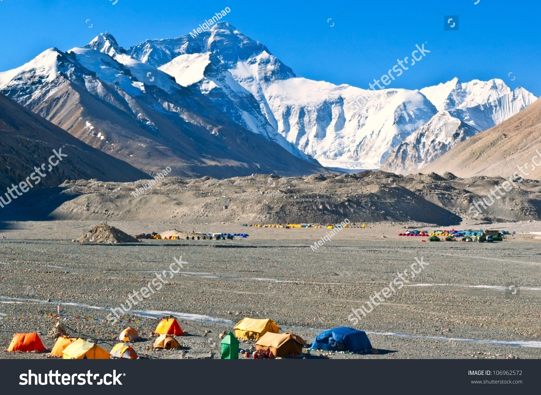 Everest Base Camp Taken Base Camp Stock Photo Shutterstock - Altitude here