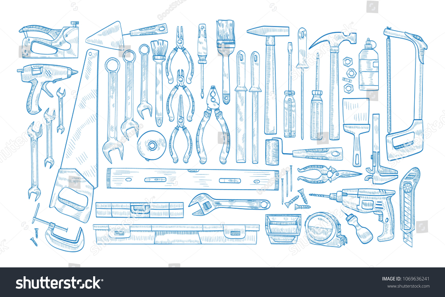 icom Array - collection manual powered electric tools woodworking stock  vector rh shutterstock com