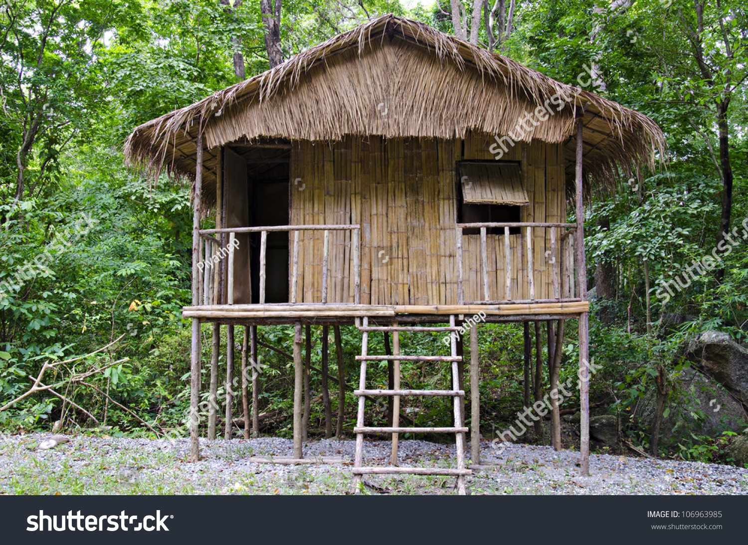 A little hut in the jungle stock photo 106963985 for Jungle house music