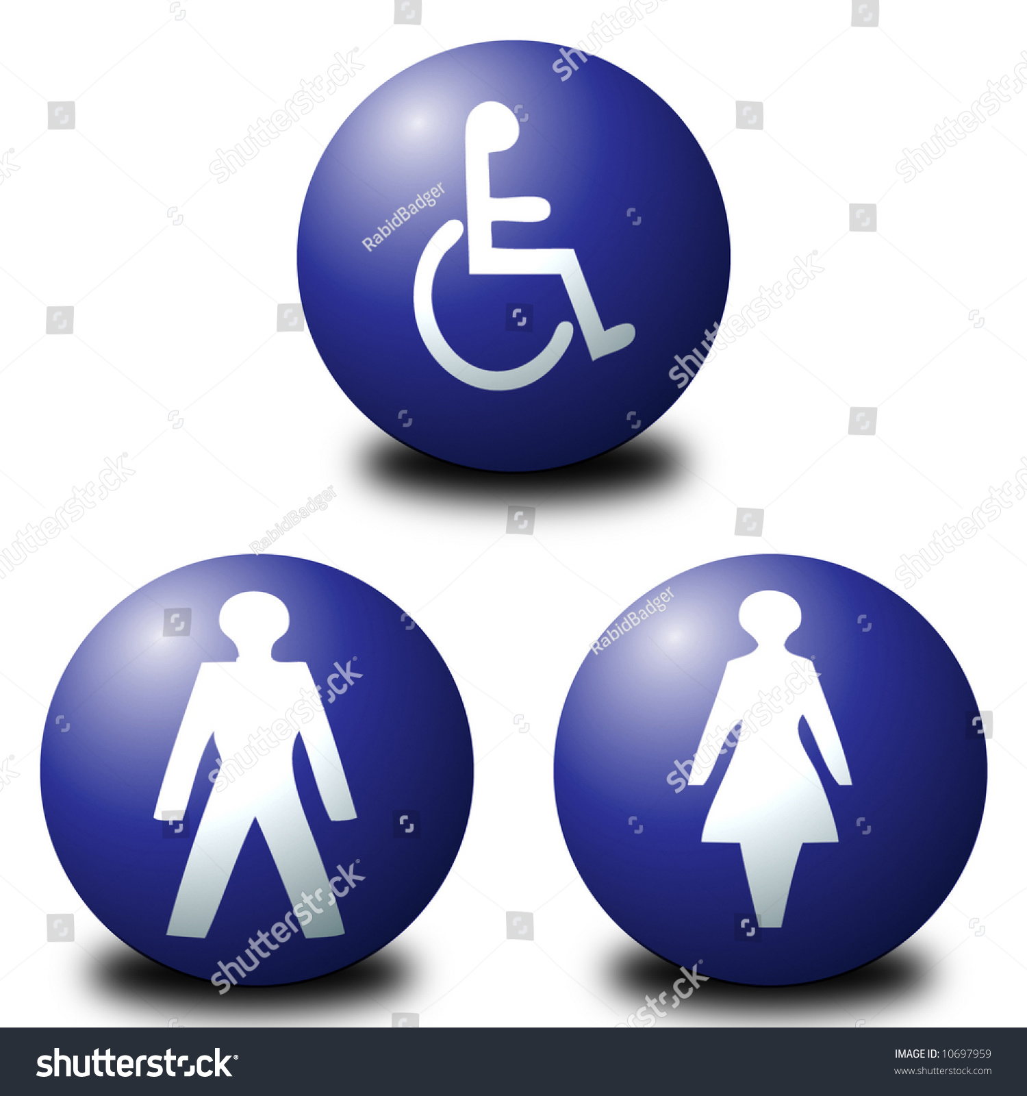 Save to a lightbox. 3d Spherical Toilet Signs Including Men  Women And Disabled Stock