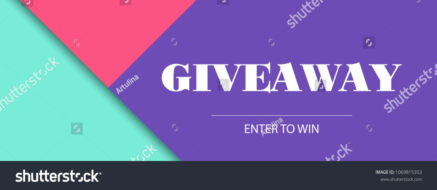 Giveaway Banner Bbeauty Fashion Design Template Stock Illustration