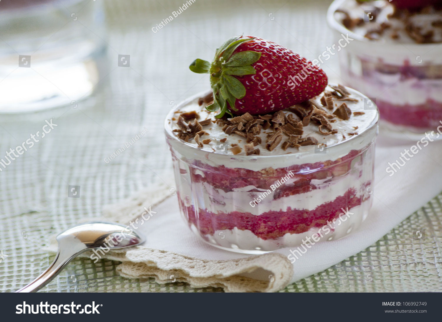 Strawberries And Whipped Cream Bowl Bowl With Whipped Crea...