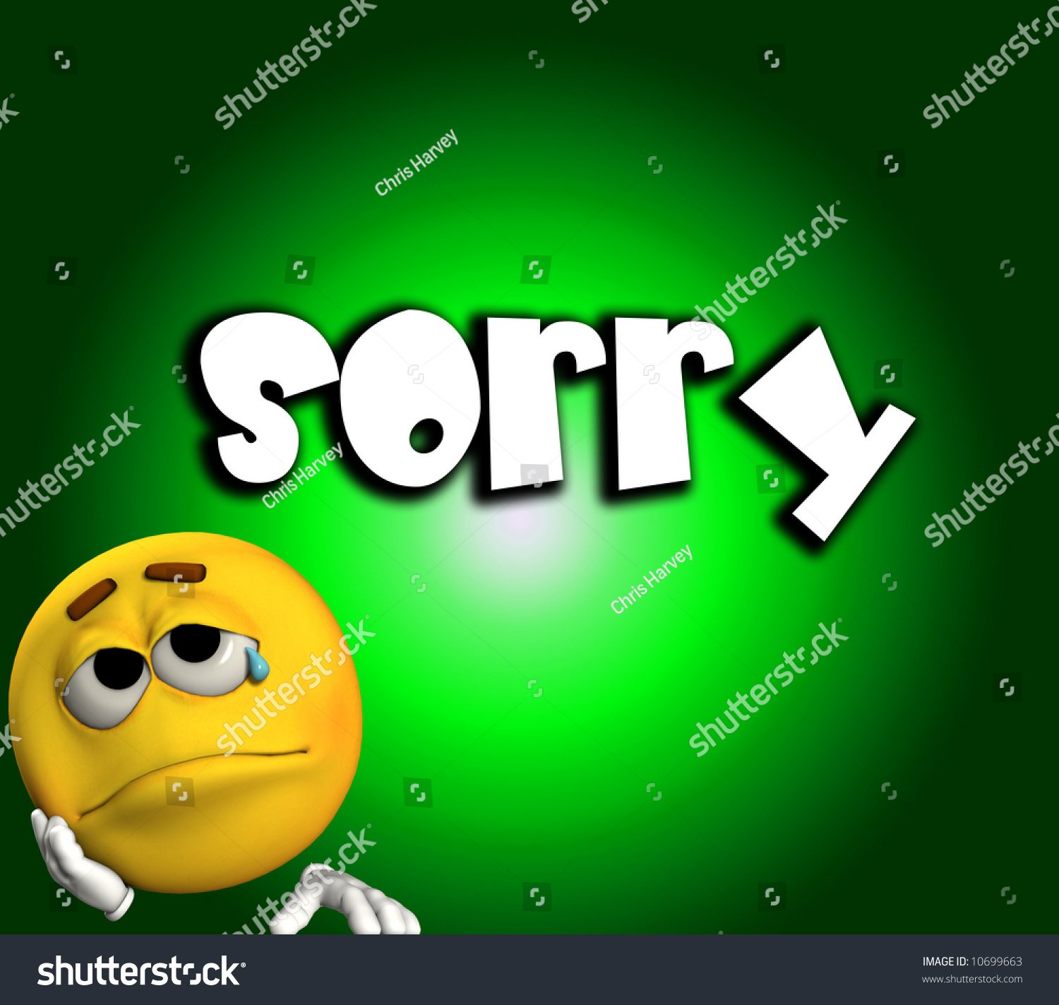 Sad Sorry Images: Conceptual Image Cartoon Face That Very Stock Illustration