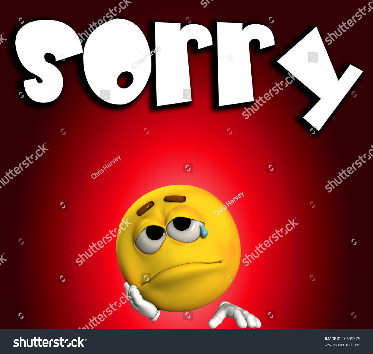 Sad Sorry Images: A Conceptual Image Of A Cartoon Face That Is Very Sad And