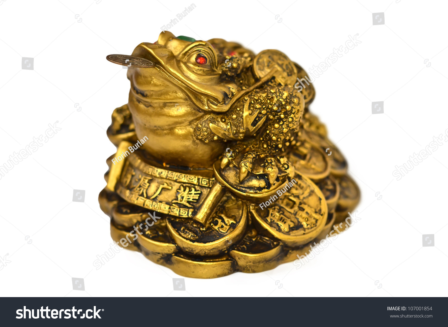 Chinese Feng Shui Frog Coins Symbol Stock Photo Edit Now 107001854